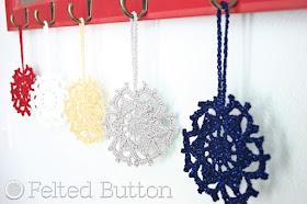 Fallen Snow Runner Crochet Pattern by Susan Carlson of Felted Button