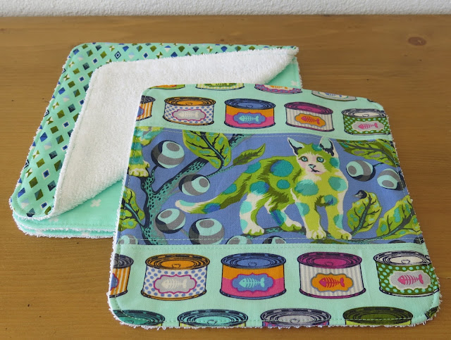 Luna Lovequilts - Washcloth - Tabby Road fabric collection by Tula Pink