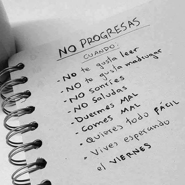 No progresas cuando 2019