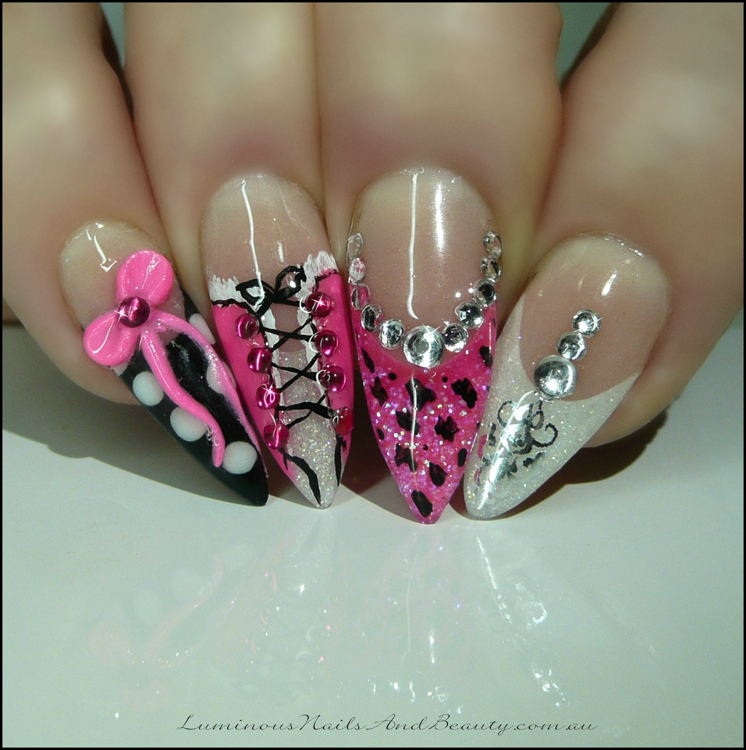 Stiletto Nail Art 2013: Luminous Nails: July 2013