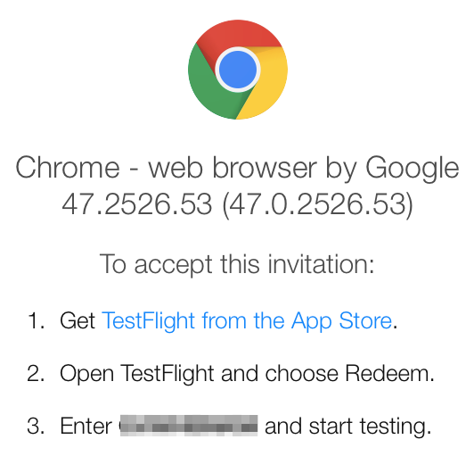Install The Testflight App On Your Ios Device Tap Redeem And Enter Code From Invitation If You Ve Already Installed Chrome Phone Or