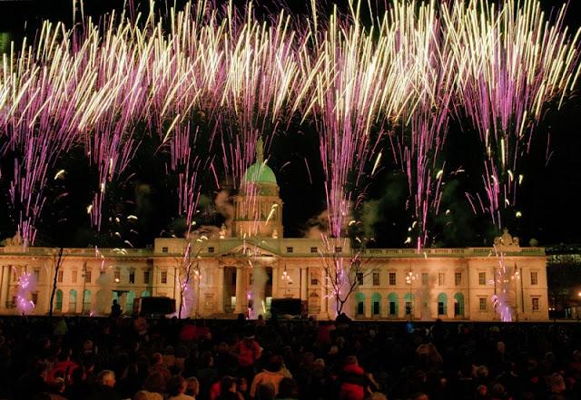Fogos de artifício em Berlim