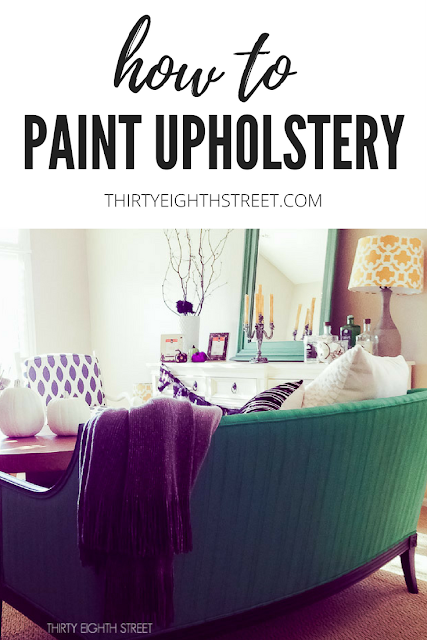 painting upholstery, painting fabric, fabric paint, painting upholstery with chalk paint, chalk painted furniture, paint a couch, painting chairs