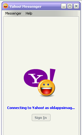 yahoo sign in messenger