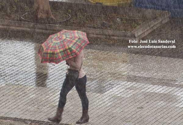 Alerta activada  por lluvias Gran Canaria, 23 febrero