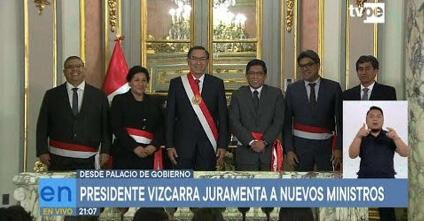 Presidente Martín Vizcarra Juramentó a cuatro nuevos ministros en Palacio de Gobierno [VIDEO]