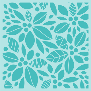 POINSETTIA BACKGROUND | STENCIL