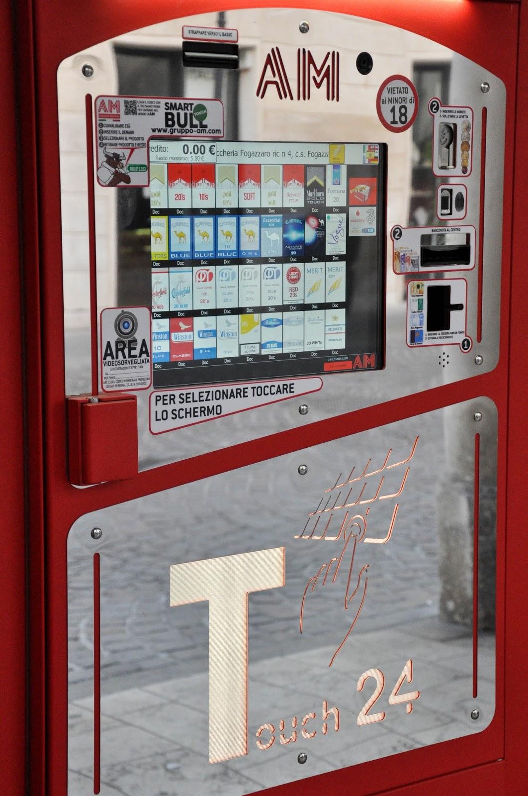 A cigarette-vending machine, Vicenza, Veneto, Italy
