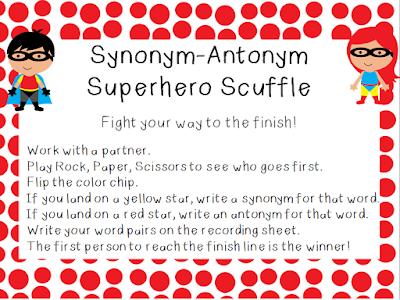 Superhero Scramble - The Elementary Bookworm