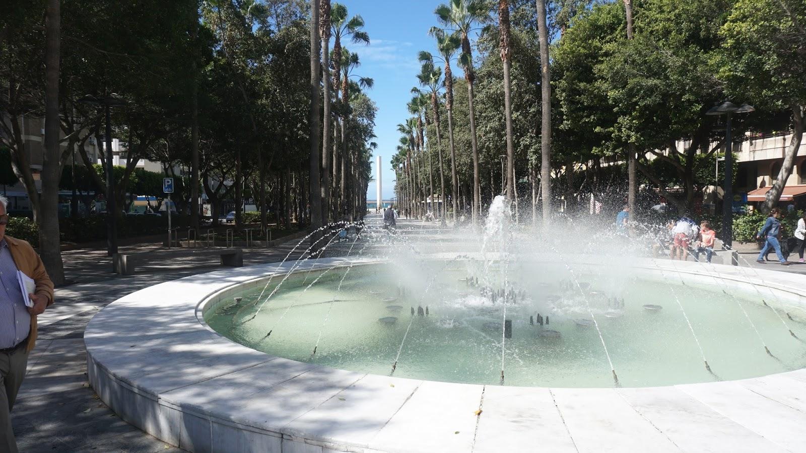 fontanna w Almerii, Almeria, Hiszpania, Costa de Almeria, południowa Hiszpania