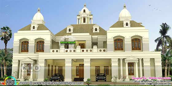 Giant colonial house plan with 8 bedrooms