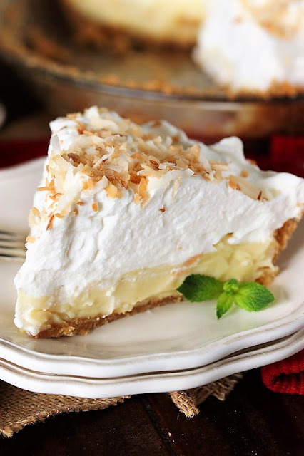 Piece of Homemade Coconut Cream Pie Image