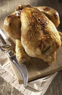 Pollo al horno entero