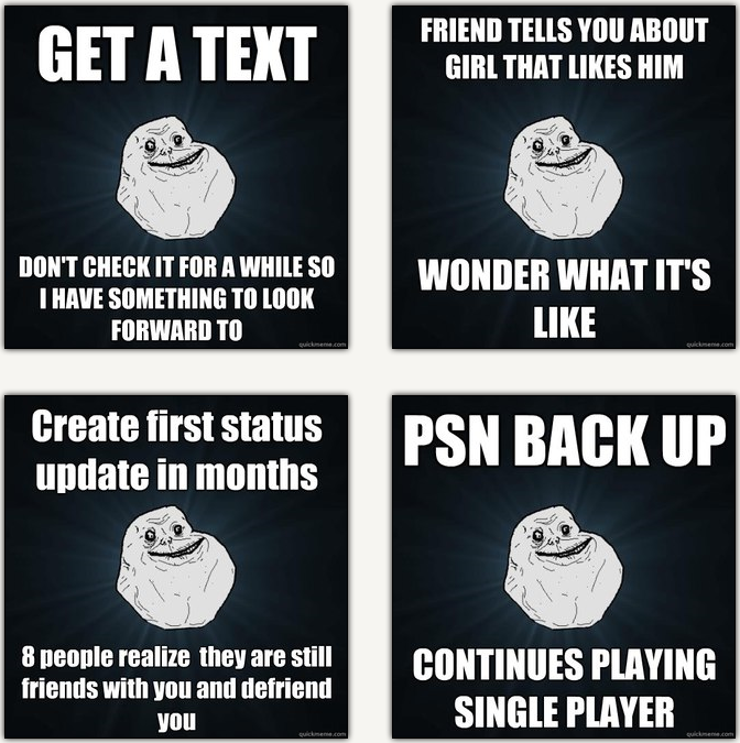 Sad Alone Memes: Forever Alone Sad Pics