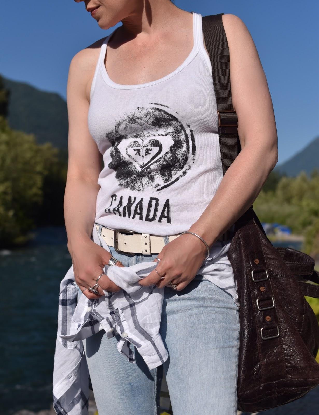 "Monika Faulkner personal style inspiration - ""Canada"" graphic tank"
