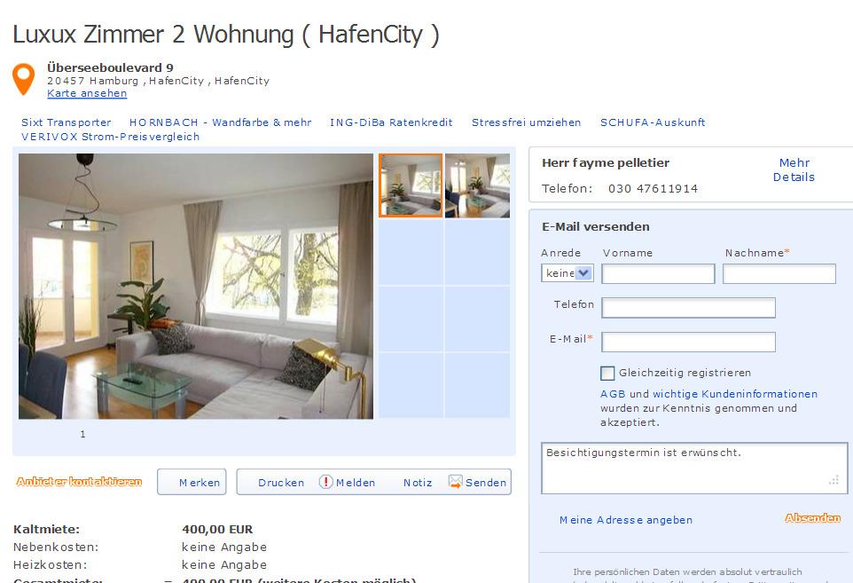 Hafencity Wohnung