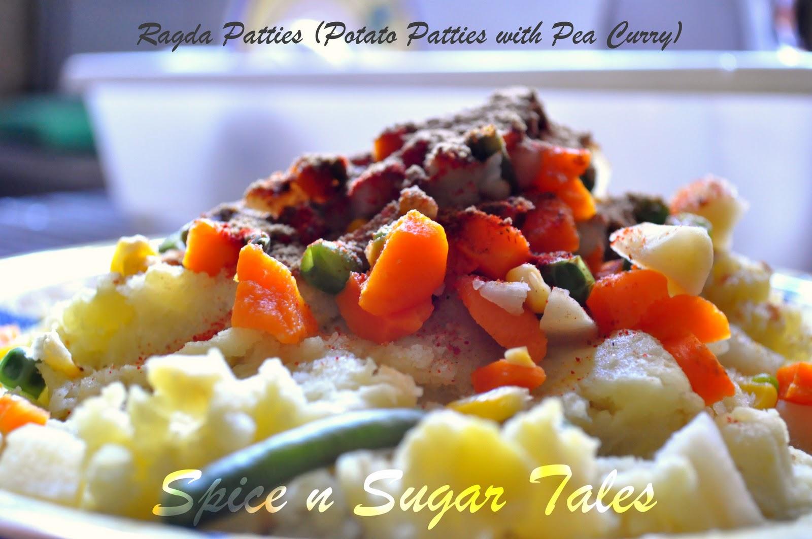 Spice n Sugar Tales: Ragda Patties/ Aloo Tikki Matar Chaat
