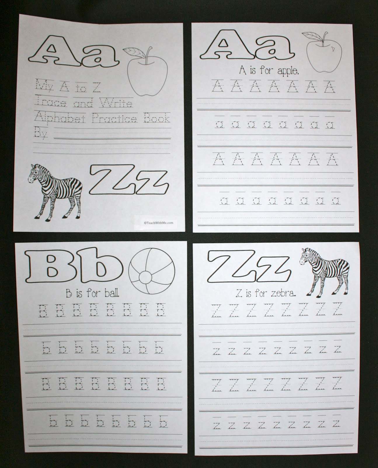 Abc Trace And Write Upper And Lowercase Letter Booklet