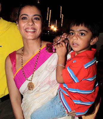 Kajol Devgan with her Son Yug Devgan