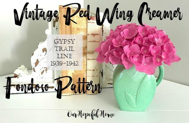 vintage red wing creamer fondoso pattern Gypsy Trail line