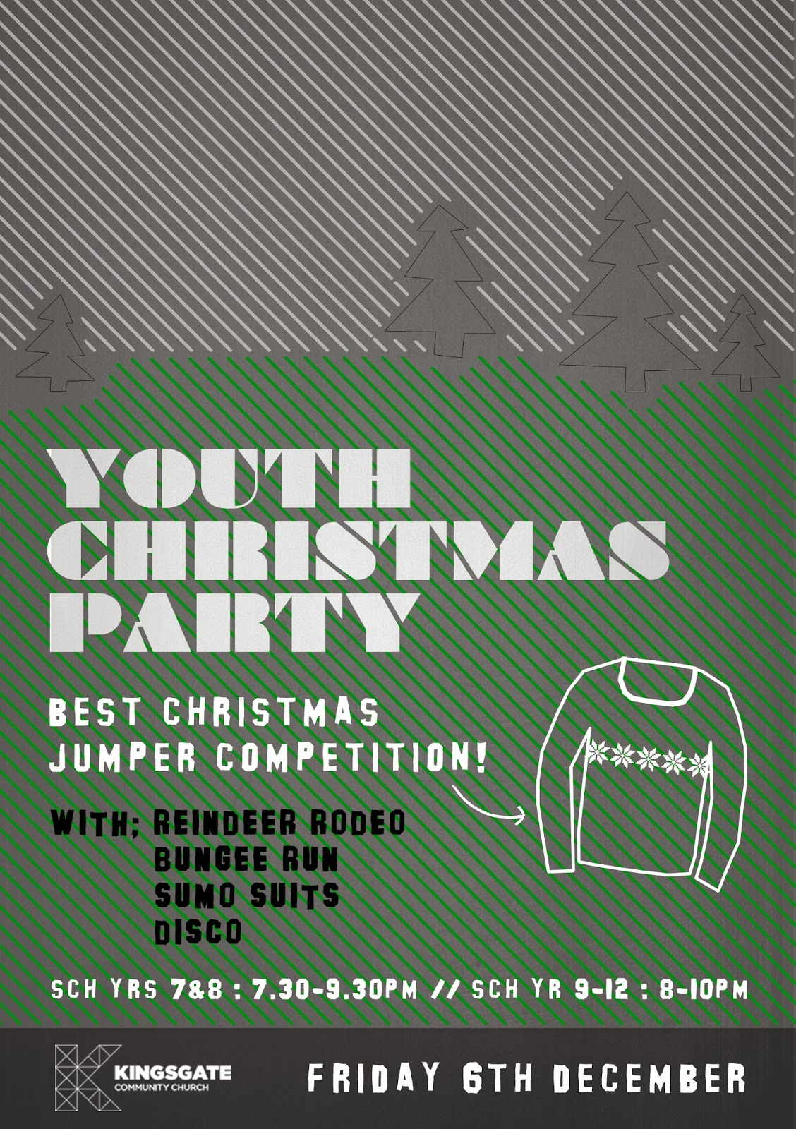 Youth Christmas Party Flyer