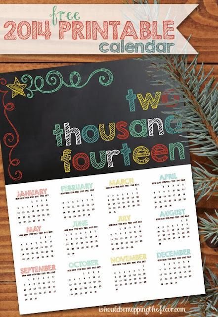 2014 +calendar 11 FREE Organizational Printables 31