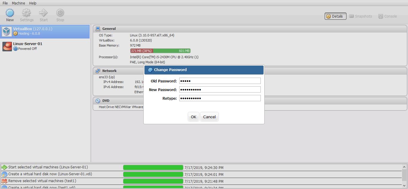 Install VirtualBox and phpVirtualBox on CentOS 7