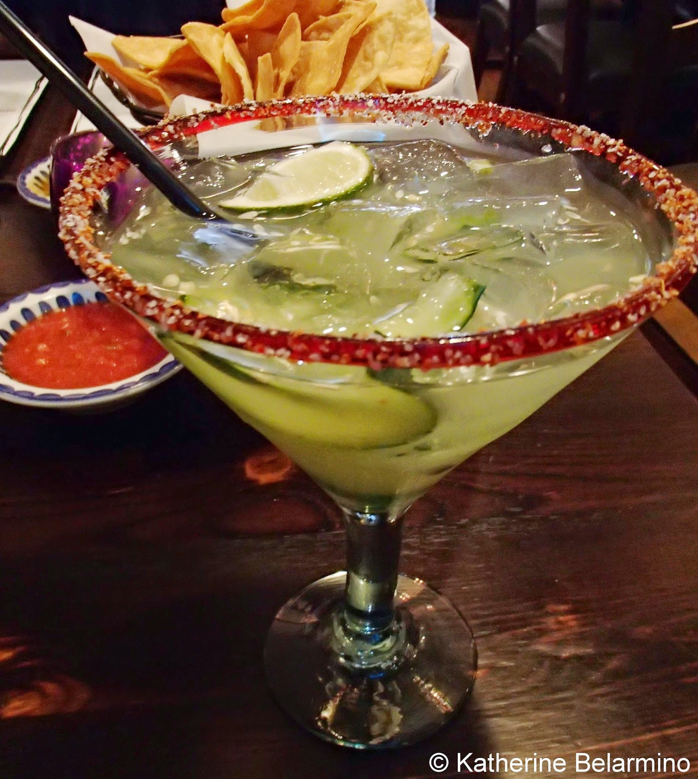 Maggie's Blue Rose Cucumber & Jalapeno Margarita Catalina Island California