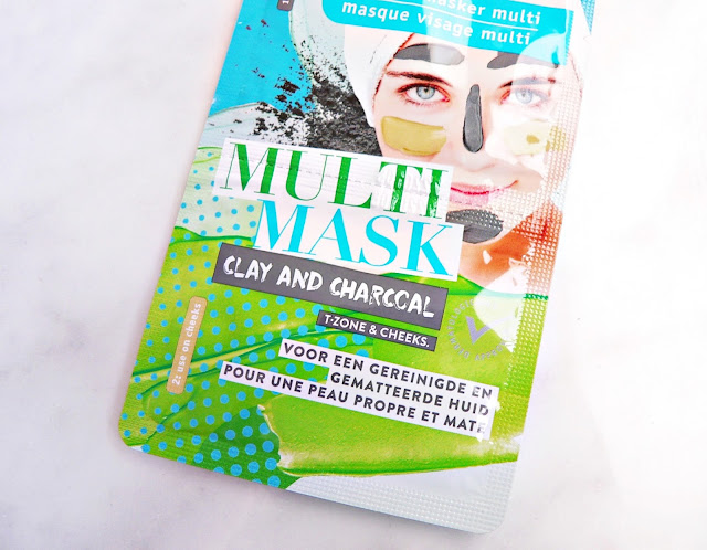 Kruidvat Multi Clay Gezichtsmasker - T-zone & cheecks clay and charccal gezichtsmasker review