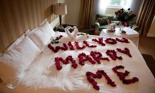 طلب زواج رومانسي