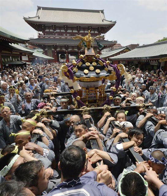 Sanja Matsuri at Asakusa Shrine, Tokyo