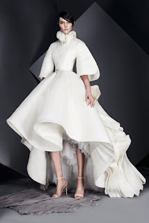 three-quarter-sleeve-winter-wedding-dress