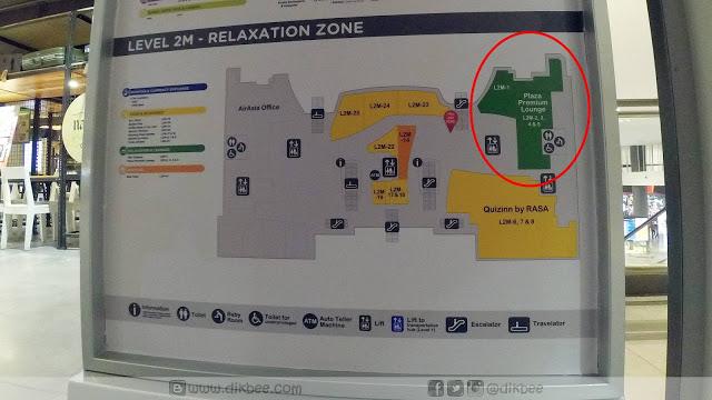 Peta menuju ke Plaza Premium Lounge (PPL)