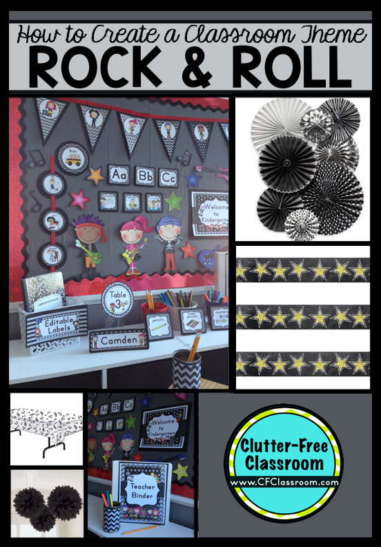 Music Classroom Decorations ~ Rock and roll themed classroom ideas printable