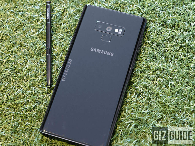 Back of the Note 9
