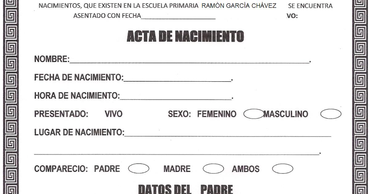 Perfecto Actas De Nacimiento Del Bebé Embellecimiento - Certificado ...
