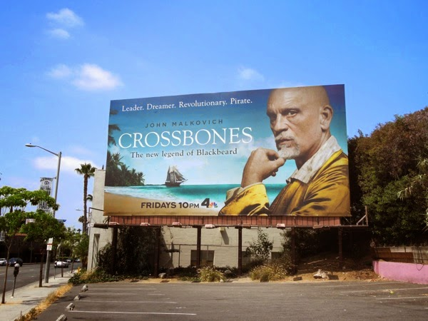 John Malkovich Crossbones season 1 billboard