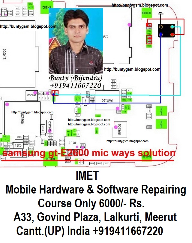 Samsung E2600 Mic Problem Solution Jumper Ways