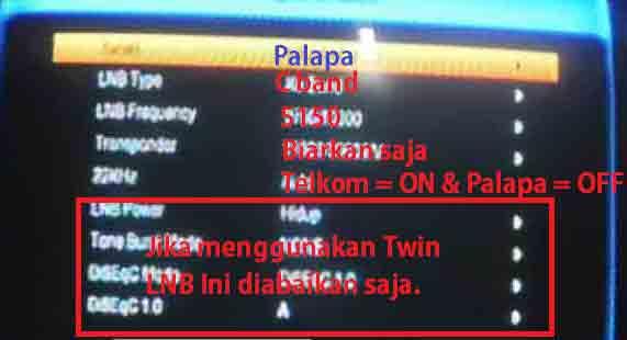 Cara Setting Receiver Untuk Satelit Palapa D dan Telkom 1 - TV Parabola