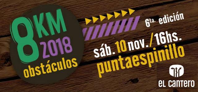 8k Obstáculos de El Cantero en Punta Espinillo (Montevideo, 10/nov/2018)