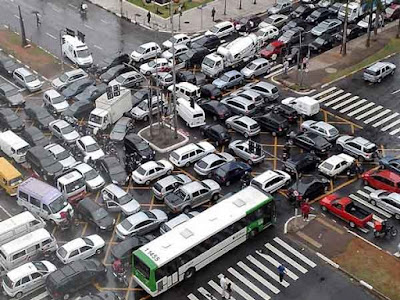 traffic lalu lintas yang paling macet