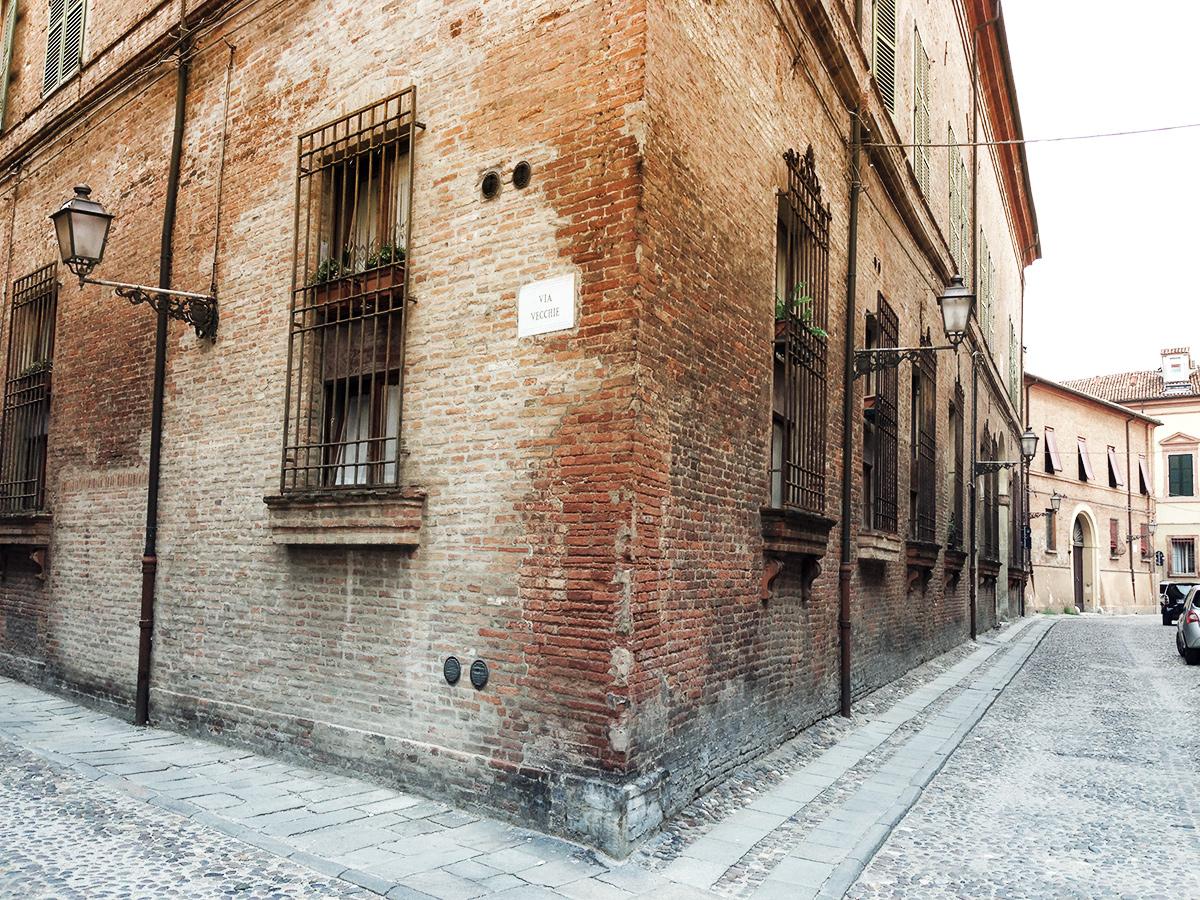 medieval street in Ferrara