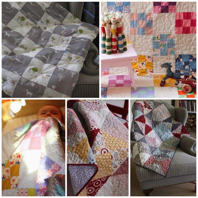 First Set of Five Baby Quilts