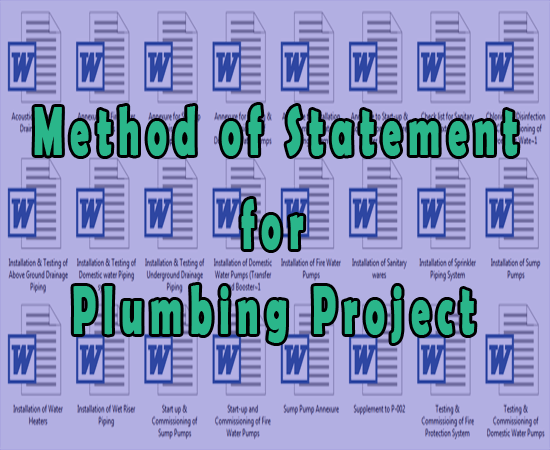Download Plumbing Method of Statement Sample. All Method of Statement Documents for Plumbing Work - Free Project Example