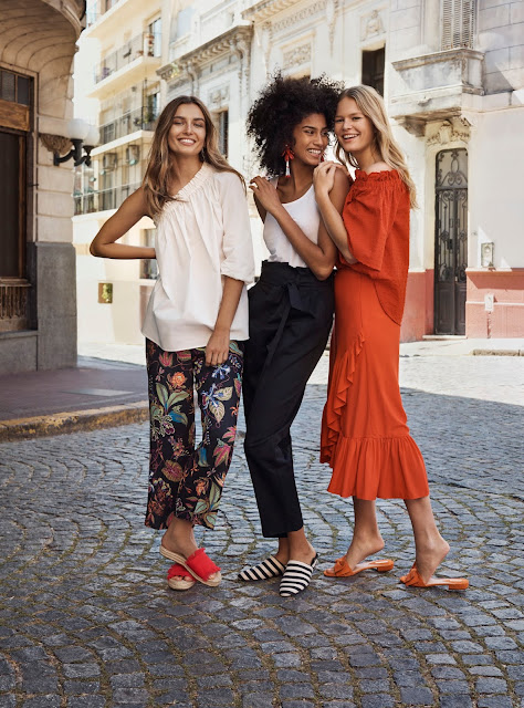 Andreea Diaconu, Anna Ewers and Imaan Hammam in H&M's Spring Campaign