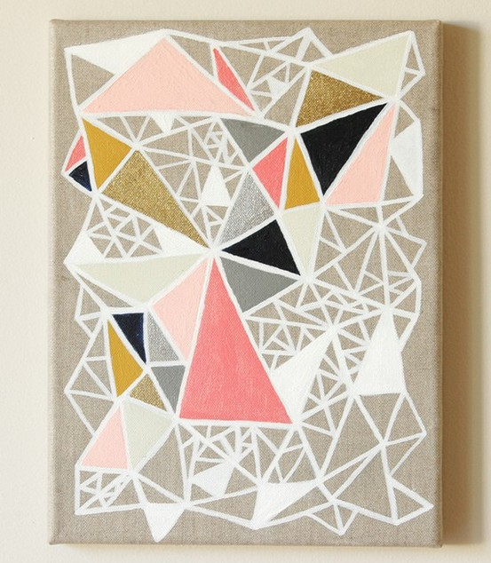 Geometric painting knock off dans le lakehouse - Geometric wall designs with paint ...