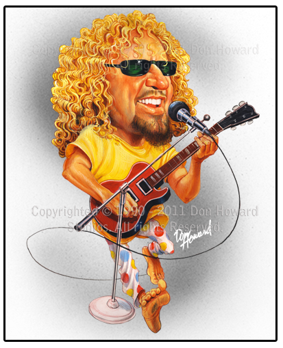 Sammy Hagar Celebrity Art Print from Don Howard Studios