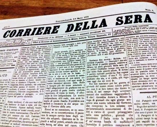 Corriere della Sera, first issue - zoom