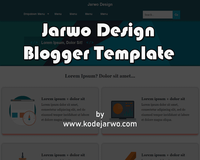 Design Jarwo Premium Blogger Template