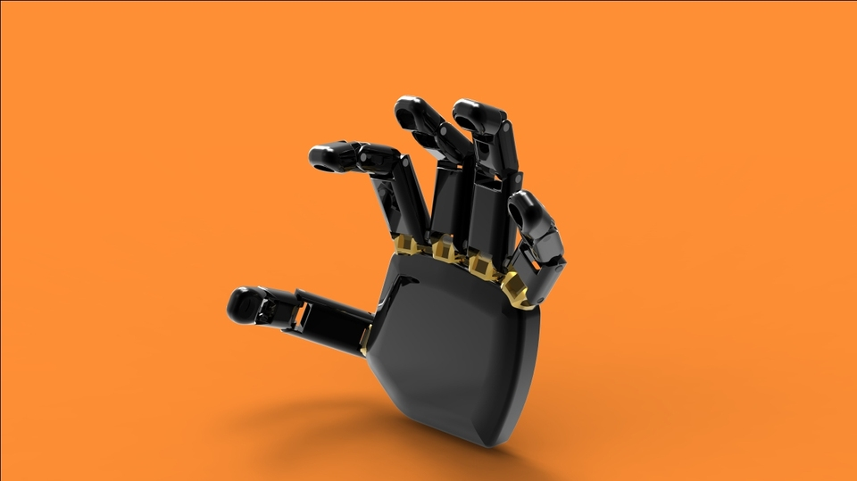 312 Robotic hand || Test drawings for a robotic hand